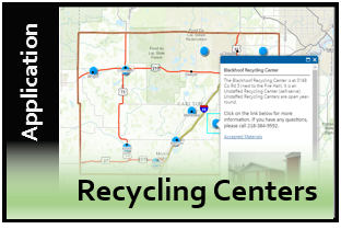 Recycling Center Locations Web Application Thumbnail Image 1