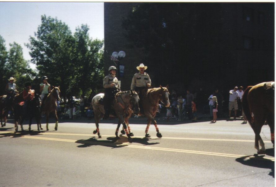 Image of mounted officers in parade